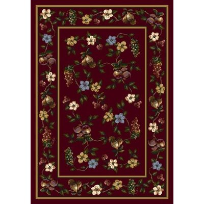 Signature Lorelei Garnet Area Rug Rug Size: Rectangle 78 x 109