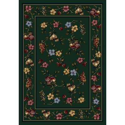 Signature Lorelei Emerald Area Rug Rug Size: 54 x 78