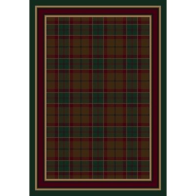 Signature Magee Tartan Emerald Area Rug Rug Size: Rectangle 109 x 132