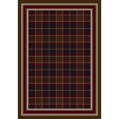 Signature Magee Tartan Onyx Amber Area Rug Rug Size: Rectangle 7'8