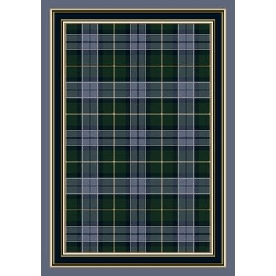 Signature Magee Tartan Lapis Area Rug Rug Size: Rectangle 109 x 132