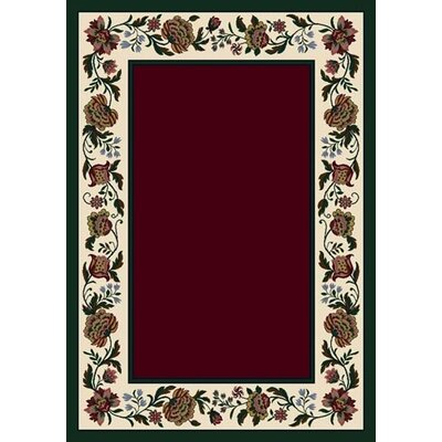 Signature Penelope Garnet Area Rug Rug Size: Rectangle 109 x 132