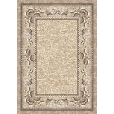 Signature Sand Castles Taupe Area Rug Rug Size: Rectangle 310 x 54