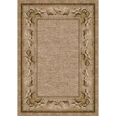 Signature Sand Castles Olive Sandstone Area Rug Rug Size: Rectangle 109 x 132