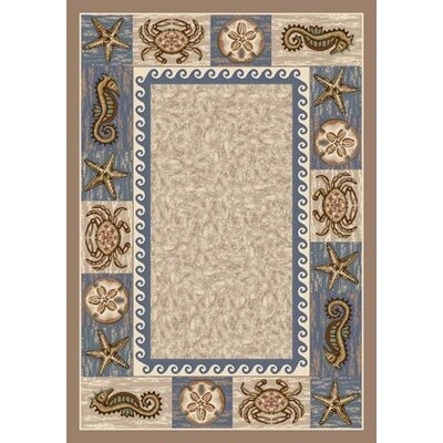 Signature Sea Life Sandstone Area Rug Rug Size: Rectangle 109 x 132