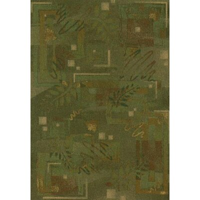 Innovation Twill Olive Autumn Area Rug Rug Size: Oval 54 x 78
