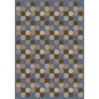 Innovation Da T Da Pale Lapis Area Rug Rug Size: Round 77