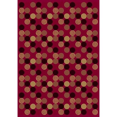 Innovation Da T Da Cherry Area Rug Rug Size: Rectangle 78 x 109