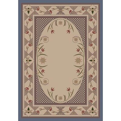 Innovation Kimberly Lapis Area Rug Rug Size: Oval 54 x 78