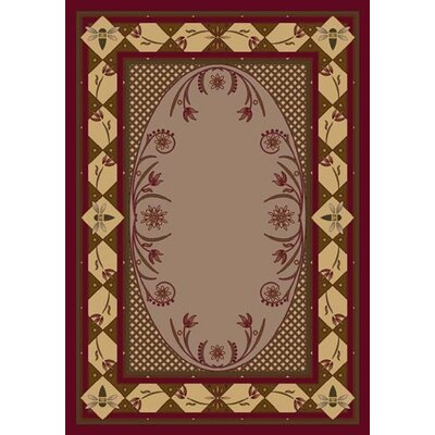 Innovation Kimberly Brick Area Rug Rug Size: Oval 54 x 78