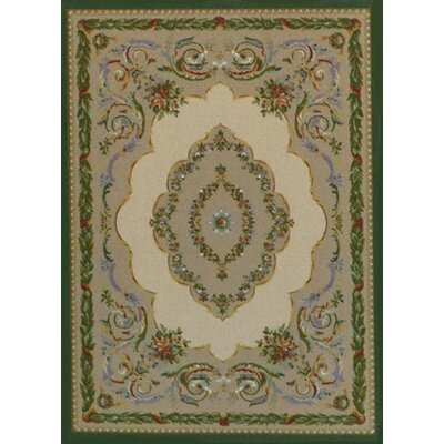 Innovation Lafayette Sandstone Emerald Are Rug Rug Size: Oval 54 x 78