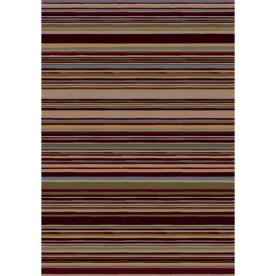 Innovation Lola Dark Chocolate Striped Area Rug Rug Size: Rectangle 21 x 78