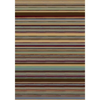 Innovation Lola Light Topaz Striped Area Rug Rug Size: Oval 54 x 78