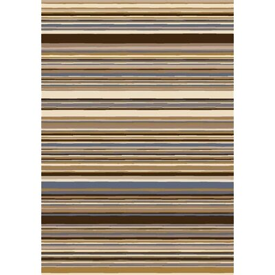 Innovation Lola Dark Amber Striped Area Rug Rug Size: Oval 54 x 78