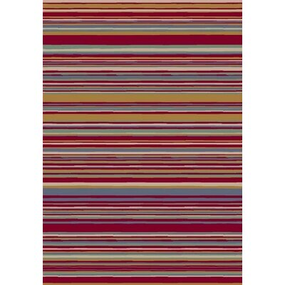 Innovation Lola Ruby Striped Area Rug Rug Size: Oval 310 x 54