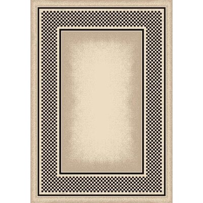 Innovation Opal Onyx Old Gingham Area Rug Rug Size: Oval 54 x 78