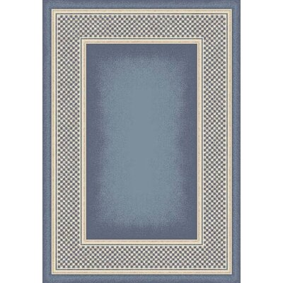 Innovation Light Lapis Old Gingham Area Rug Rug Size: Oval 54 x 78