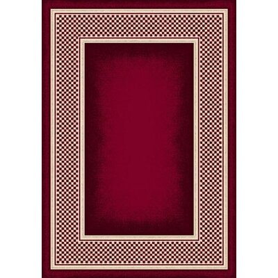 Innovation Ruby Old Gingham Area Rug Rug Size: Oval 54 x 78