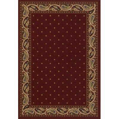 Innovation Garnet Paisley Area Rug Rug Size: Oval 54 x 78