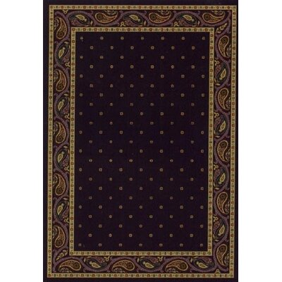 Innovation Eggplant Paisley Area Rug Rug Size: Oval 310 x 54