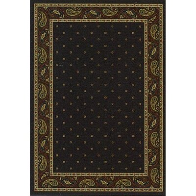 Innovation Onyx Paisley Area Rug Rug Size: Oval 310 x 54