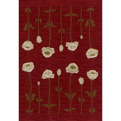 Innovation Garnet Poppy Area Rug Rug Size: 54 x 78