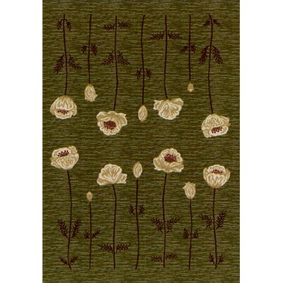 Innovation Olive Poppy Area Rug Rug Size: 54 x 78