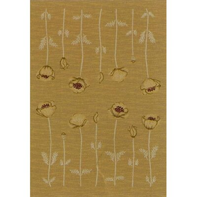 Innovation Maize Poppy Area Rug Rug Size: Round 77