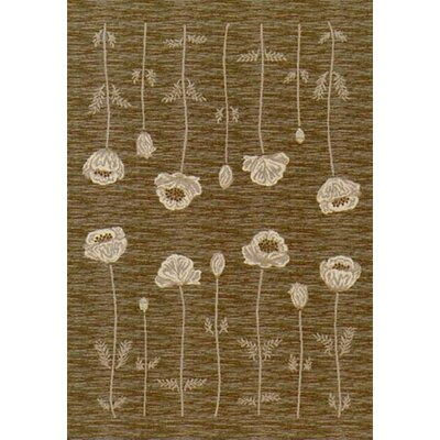 Innovation Oregano Poppy Area Rug Rug Size: Oval 54 x 78
