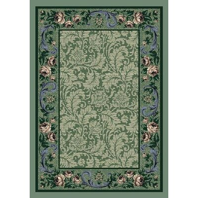 Innovation Peridot Rose Damask Area Rug Rug Size: 5'4