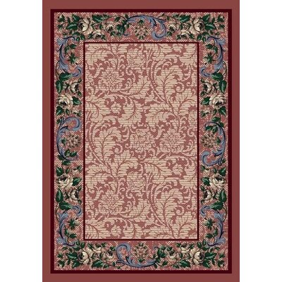 Innovation Rose Quartz Rose Damask Area Rug Rug Size: Oval 54 x 78