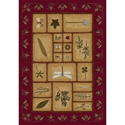 Signature Meadow Brick Area Rug Rug Size: 54 x 78
