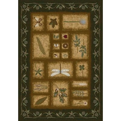 Signature Meadow Olive Area Rug Rug Size: Oval 54 x 78