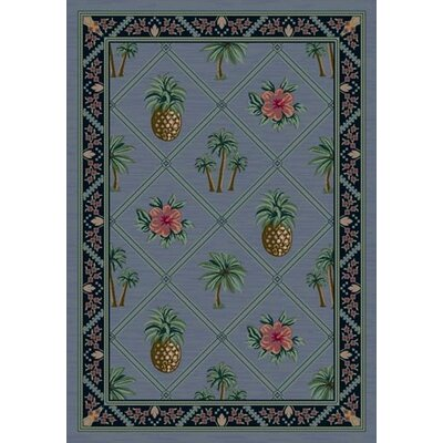 Signature Palm Bay Lapis Area Rug Rug Size: Oval 54 x 78