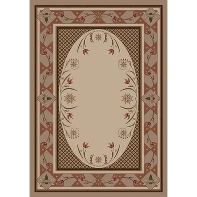 Innovation Sandstone Kimberly Area Rug Rug Size: Oval 54 x 78