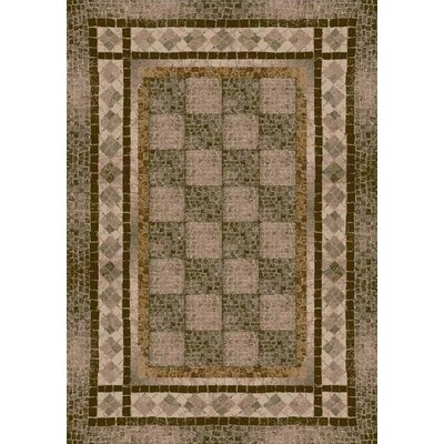 Innovation Khaki Flagler Area Rug Rug Size: Oval 54 x 78