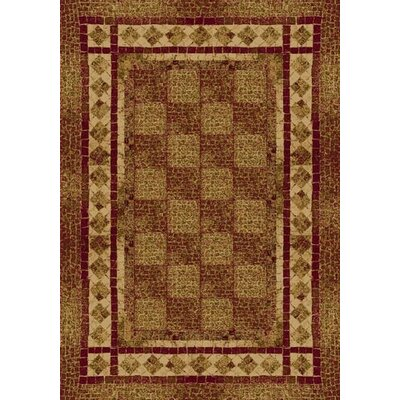 Innovation Brick Flagler Area Rug Rug Size: Oval 54 x 78