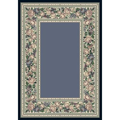 Innovation Lapis English Floral Area Rug Rug Size: Oval 54 x 78