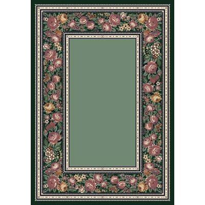 Innovation Peridot English Floral Area Rug Rug Size: Round 77