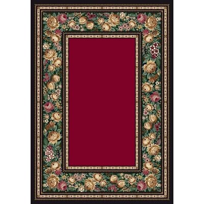 Innovation Ruby English Floral Area Rug Rug Size: Oval 54 x 78