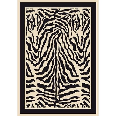 Innovation Print Zulu Zebra Area Rug Rug Size: Rectangle 54 x 78