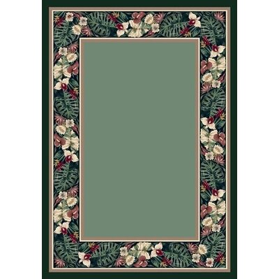 Innovation Peridot Tropical Forest Area Rug Rug Size: 109 x 132