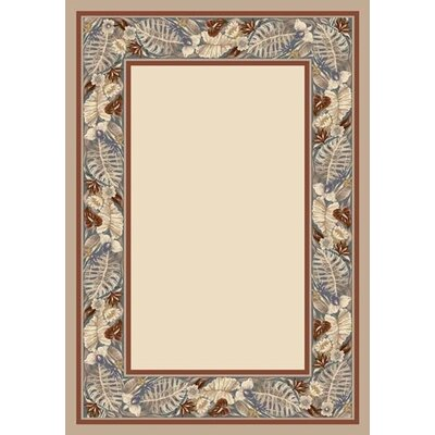 Innovationl Pearl Mist Tropical Forest Opa Area Rug Rug Size: 109 x 132