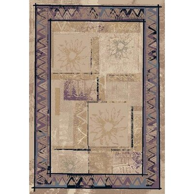 Innovation Topaz Sandstone Soleil Area Rug Rug Size: Rectangle 78 x 109