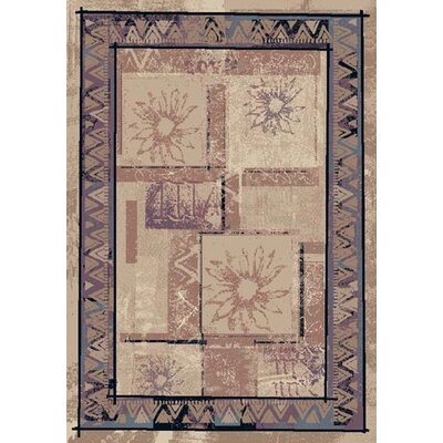 Innovation Rose Sandstone Soleil Area Rug Rug Size: Oval 5'4