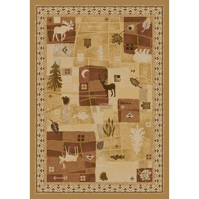 Signature Deer Trail Maize Area Rug Rug Size: 78 x 109