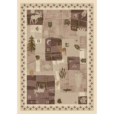 Signature Deer Trail Opal Area Rug Rug Size: Oval 54 x 78