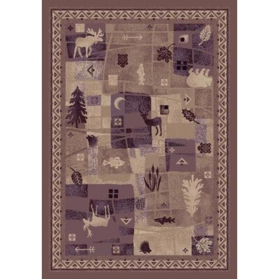 Signature Deer Trail Light Amethyst Area Rug Rug Size: 109 x 132