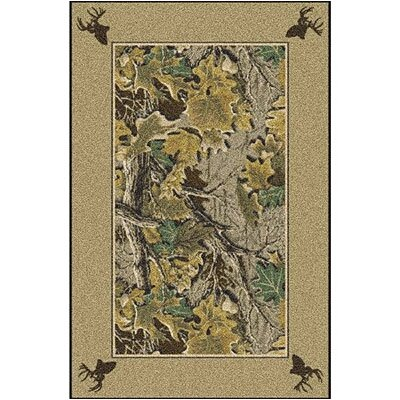 Realtree Advantage Solid Border Area Rug Rug Size: Rectangle 54 x 78