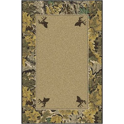 Realtree Advantage Solid Center Area Rug Rug Size: 54 x 78